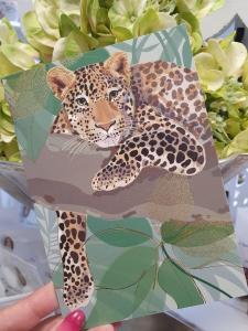 Kort med leopard, Pictura