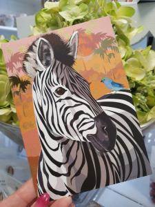 Kort med zebra, Pictura