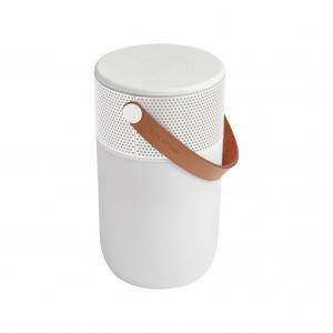 vit Bluetooth högtalare med belysning från Kreafunk. fungerar även som batteripack