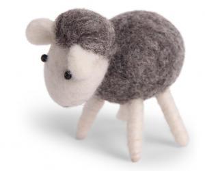 Lamm, grått - tovad ull