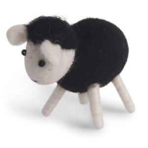 Lamm, svart- tovad ull