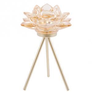 Ljusstake Lotusblomma Guld (Miljögården)