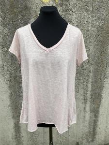 T-shirt med v-hals, Ljusrosa (Tuva) - Mix by Heart