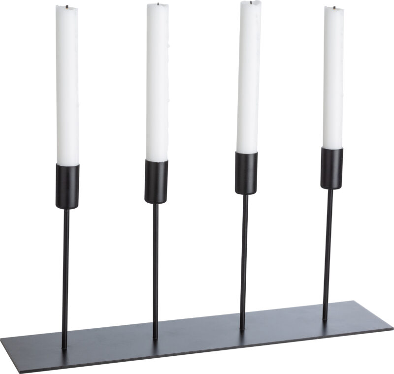 Ljusstake för 4 ljus I Metall - Ernst