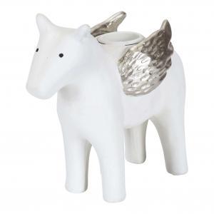 Ljusstake Häst vit H.11cm - Nääsgränsgården