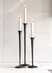 Ljusstake På Fot Gallery svart, 3 olika höjder - Zelected by Houze