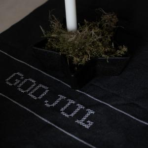 Löpare God Jul, mörkgrå - Storefactory