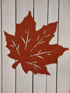 Löv i filtad känsla, Rost - 45 cm