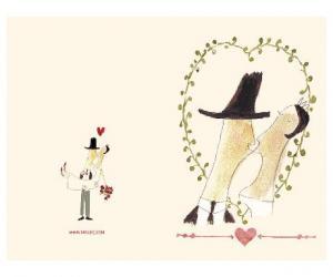 Kort till bröllop - Mon Amour