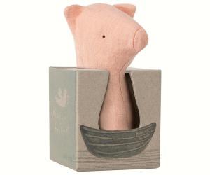 Maileg, Noah´s friends Pig rattle / Skallra gris
