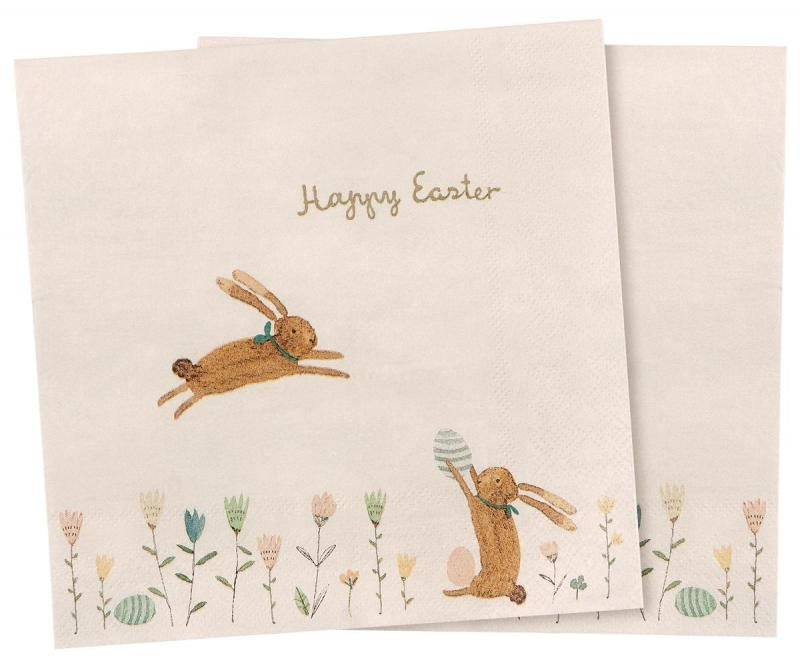 Maileg, Pappersservetter Happy Easter Field