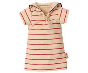Maileg, Rödrandig klänning Storlek 2 (Kommer i april)