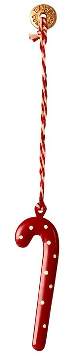 Metal ornament, Sugar cane / Polkagriskäpp - Maileg