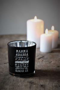 Maja, Mamma & Pappa inkl gåvobox (svart/silver)