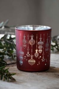 Majalykta Christmas Ornaments Röd, Silver 9X10cm - Majas Cottage (beräknas komma i oktober)