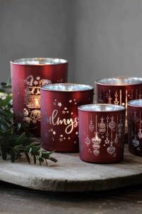 Majalykta Christmas Ornaments Röd, Silver 7X8cm - Majas Cottage (beräknas komma i oktober)