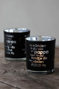 Maja, Pappa inkl gåvobox (svart/silver)