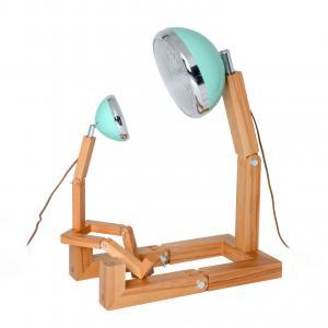 Mega Mr. Wattson LED Lamp Ash - Tiffany Green