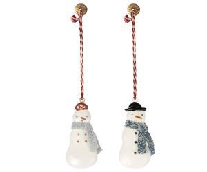 Metal ornament, Snowman 2 ass. - Maileg     LEV NOV/DEC