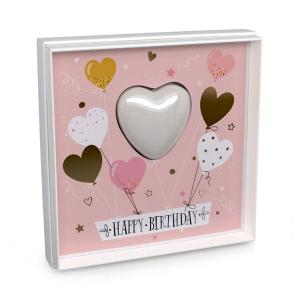 Mini Hjärt Tvål i ett kort, Happy Birthday 45g