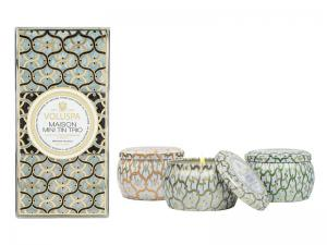 Mini Travel Candle Trio Maison Blanc - Set Om 3 Voluspa Doftljus