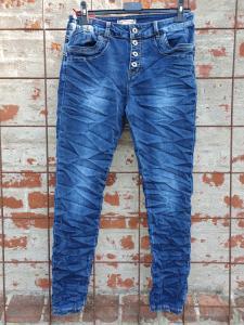 Jeans med knappar, mörk denim - Mix by Heart