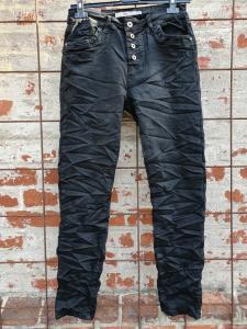 Jeans med knappar, svart - Mix by Heart