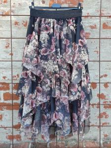 Kjol i tyll, svart/blommig - Mix by Heart