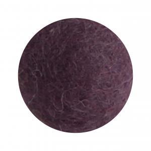 Mörk lavendel blomma i tovad ull, stor