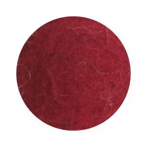 Mörk röd blomma i tovad ull, stor