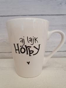 aj lajk Hörby - Mugg från Lyckliga L8