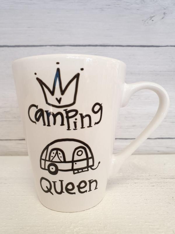 Camping Queen (husvagn) - Mugg från Lyckliga L8