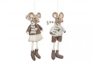 Mus pojke hängande Creme/Mullvad - A lot