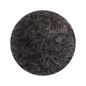 Natur svart blomma i tovad ull, stor   (18620)