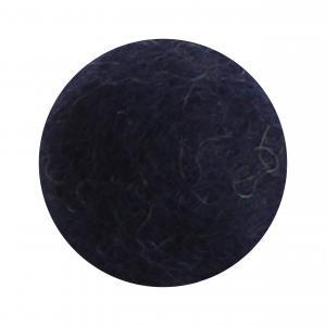 Marinblå blomma i tovad ull, stor   (18820)