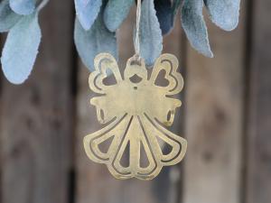 Ängel med upphängning, guldfärgad - Chic Antique