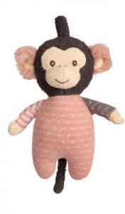 Speldosa, Apa med dress i rosa och brunt (Amelia), Bukowski