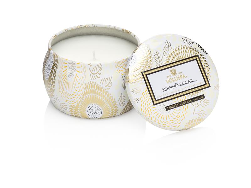 Nissho Soleil,  Mini Decorative Tin Candle - Voluspa Doftljus