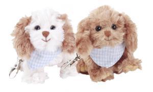 Nyckelring, Hund Spaniel med scarves - Bukowski