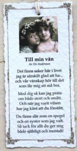 Diktkort - Till min vän