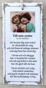Diktkort - Till min syster