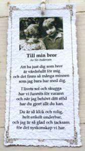 Diktkort - Till min bror