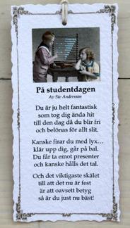 Diktkort - På studentdagen
