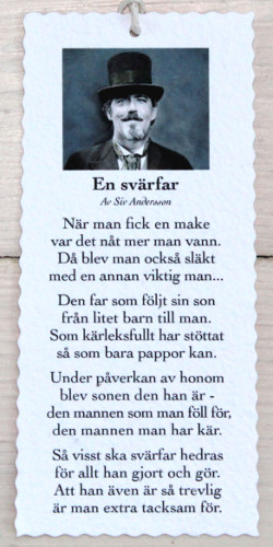 Diktkort - En Svärfar