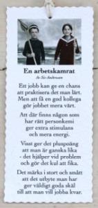 Diktkort - En arbetskamrat