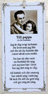 Diktkort - Till pappa