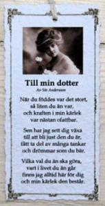 Diktkort - Till min dotter