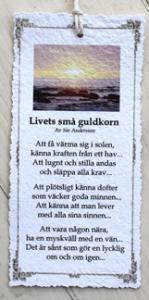 Diktkort - Livets små guldkorn
