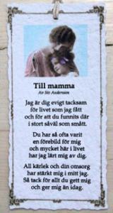 Diktkort - Till mamma