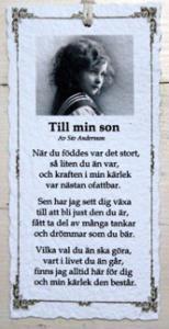 Diktkort - Till min son